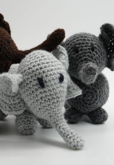 Crochet an Amigurumi Elephant at Home