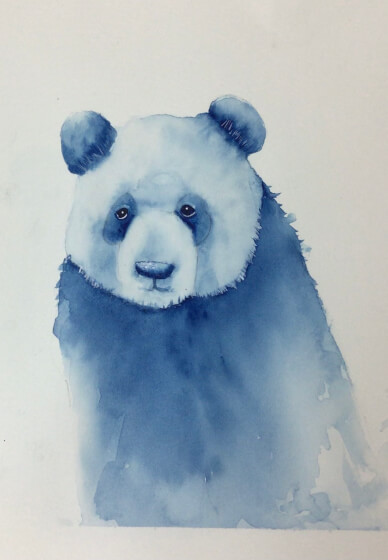 Paint a Watercolour Panda at Home